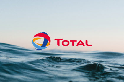 ocean with total logo