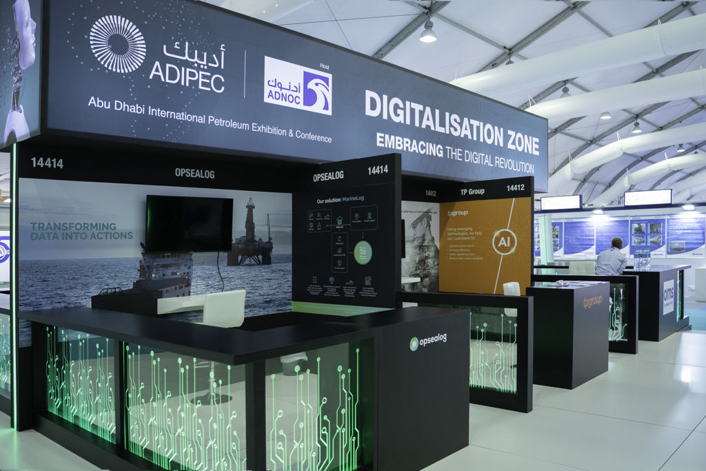 Opsealog Adipec 2019 booth
